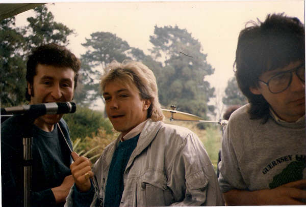 "DJ Mike Reed's Sunday afternoon house party. 1985. ""I just had to sing backing vocals to 'Twist and Shout' fantastic Lennon voice"" David Cassidy"
