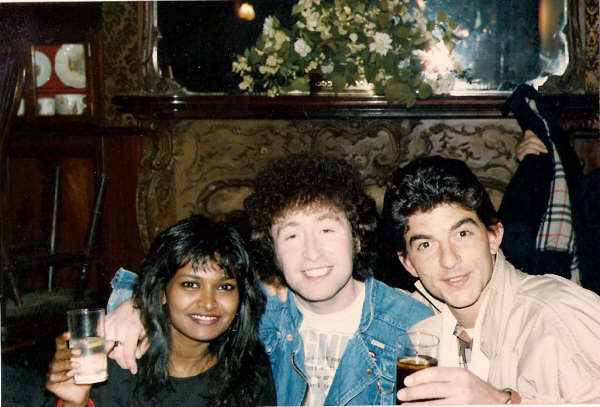 "Chilling out with an Eastender London 1985  ""I played George in the 'Boston USA Lennon trailer'"" 1984 John Altman (Nasty Nick Cotton)"