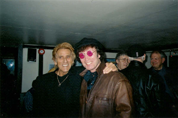 """Sharing a pint with the late Albie Wycherley (Billy Fury's brother) Liverpool 2005 """"Pull us a pint, and put an head on it, or I'll put an head on you!"""" Albie Wycherley"""