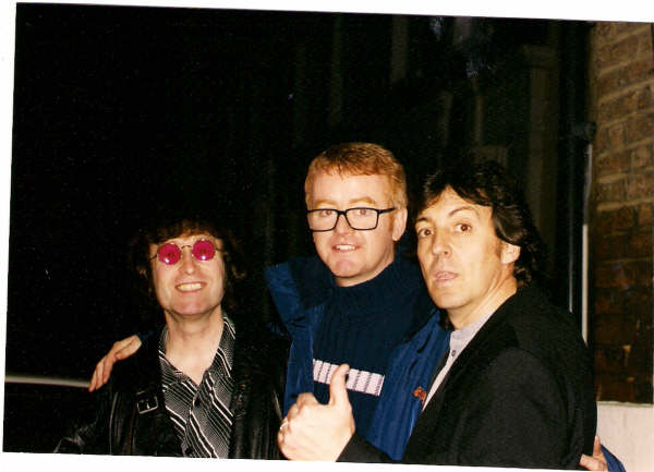 "After recording TFI Friday. Riverside Studios London 1999 ""If he's John Lennon, then I'm Chris Evans!"" Chris Evans."
