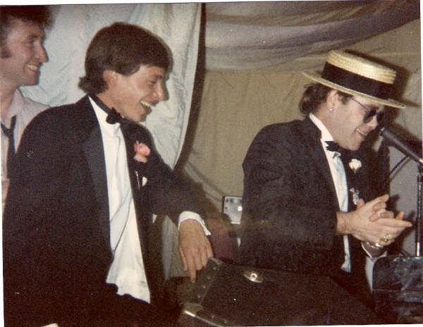 "I was performing at a Horse racing fraternity party in Newmarket 1985 When Elton John walked up to the stage and asked if he could sing with me. ""Can we sing ' I saw her standing there' … That was the last song I sang with John at Madison Square Garden"" ""Gary must be related to John Lennon!"""