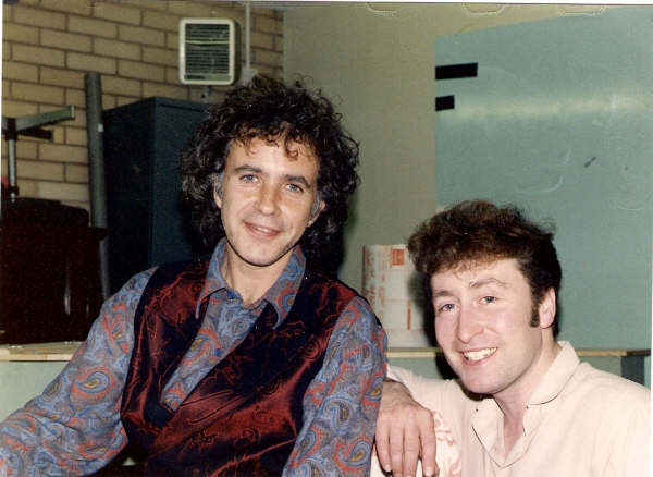 """BBC Radio One Road Show (Ferry across the Mersey) Royal Iris.1986 Quote """"Best John Lennon vocal I've ever heard"""" With David Essex"""