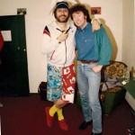 "Dave Lee Travis at the La-De-Dars night club Accrington 1986 ""I thought I'd had a close encounter of the hairy kind"" Dave Lee Travis"